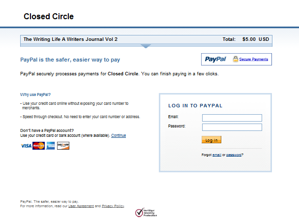 Payment options « Closed Circle